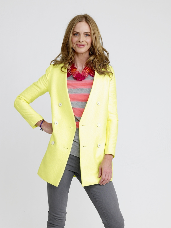 Trinny says, 'Don't be afraid of neon yellow and coral'.