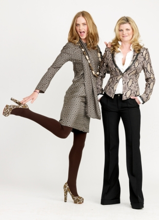 Susannah loves her python print jacket whilst Trinny goes for leopard print heels
