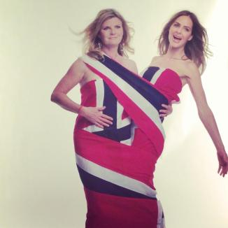 Trinny & Susannah fly the flag for Norway