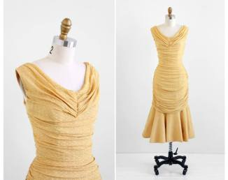 Cello dress gold