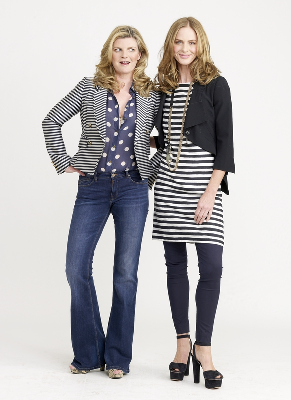 A striped jacket worn open will help to shape your body without over-magnifying your bust.